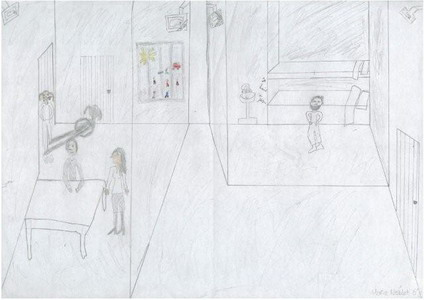 child sketch of prison