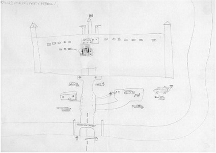 child sketch of prison as fortress