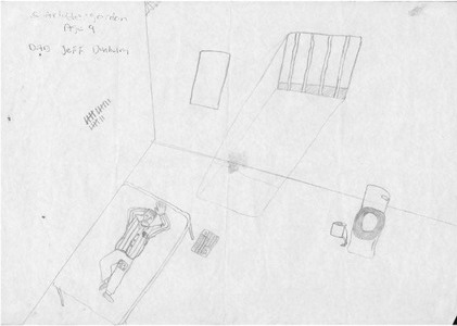 child drawing of father's prison cell