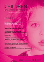 Cover of the DIHR Report on Children of Prisoners