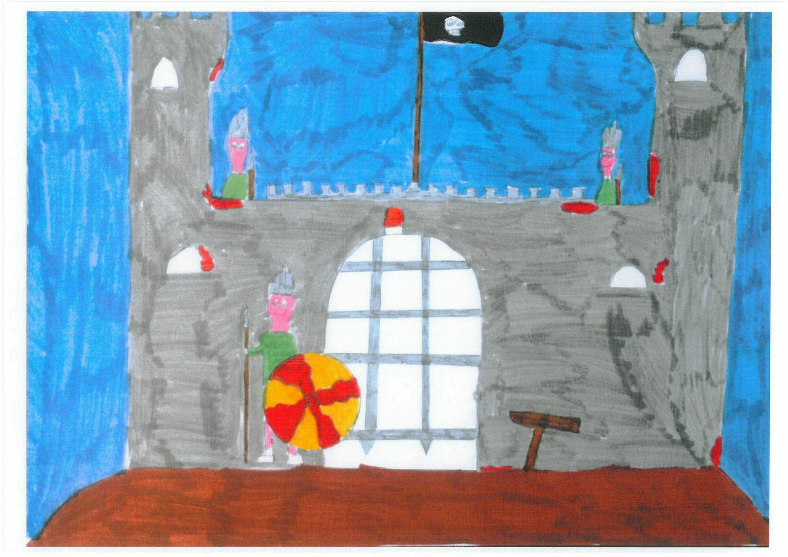child drawing of prison as a castle