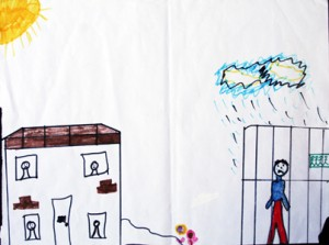 Child drawing from prison visiting centre