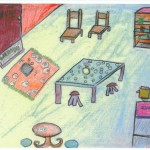 child drawing of prison visiting centre