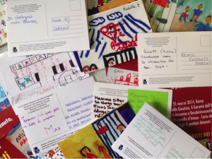 COPE's pledge cards written by children with imprisoned parents in six different countries