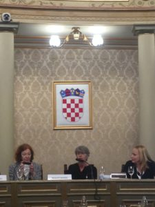 Renate Winter and Margaret Tuite at COPE 2016 conference in Zagreb